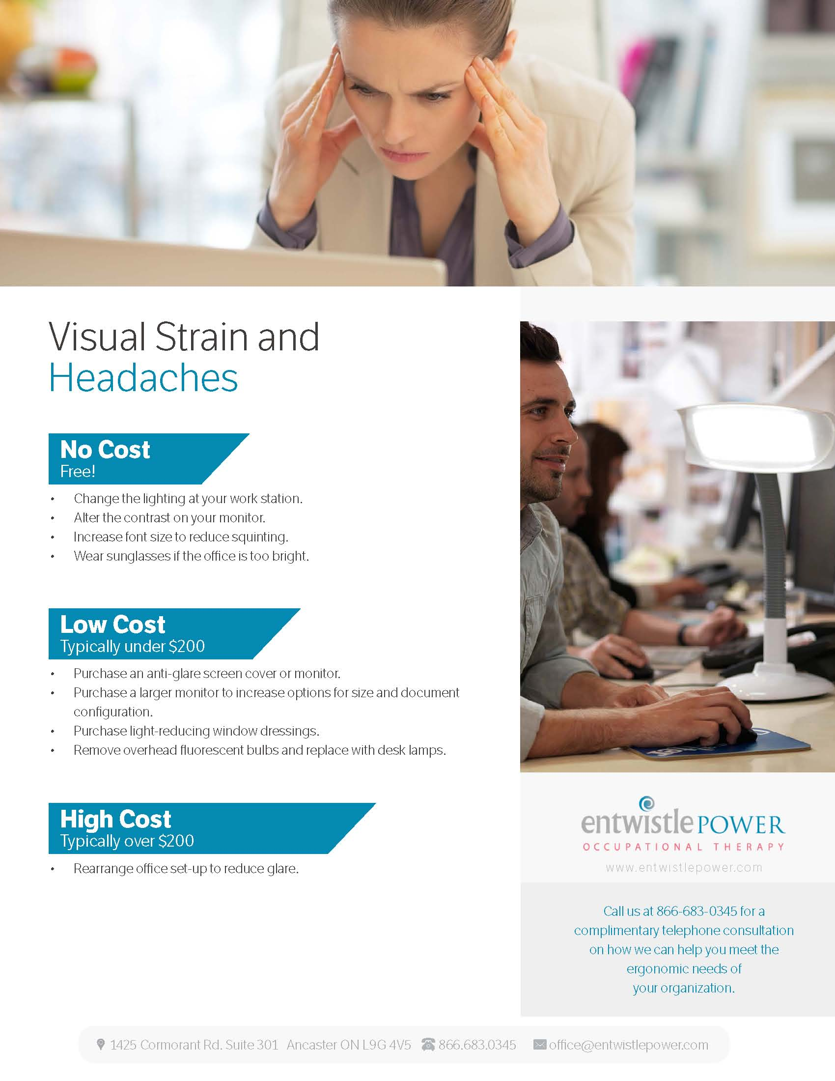 visual strains and headaches
