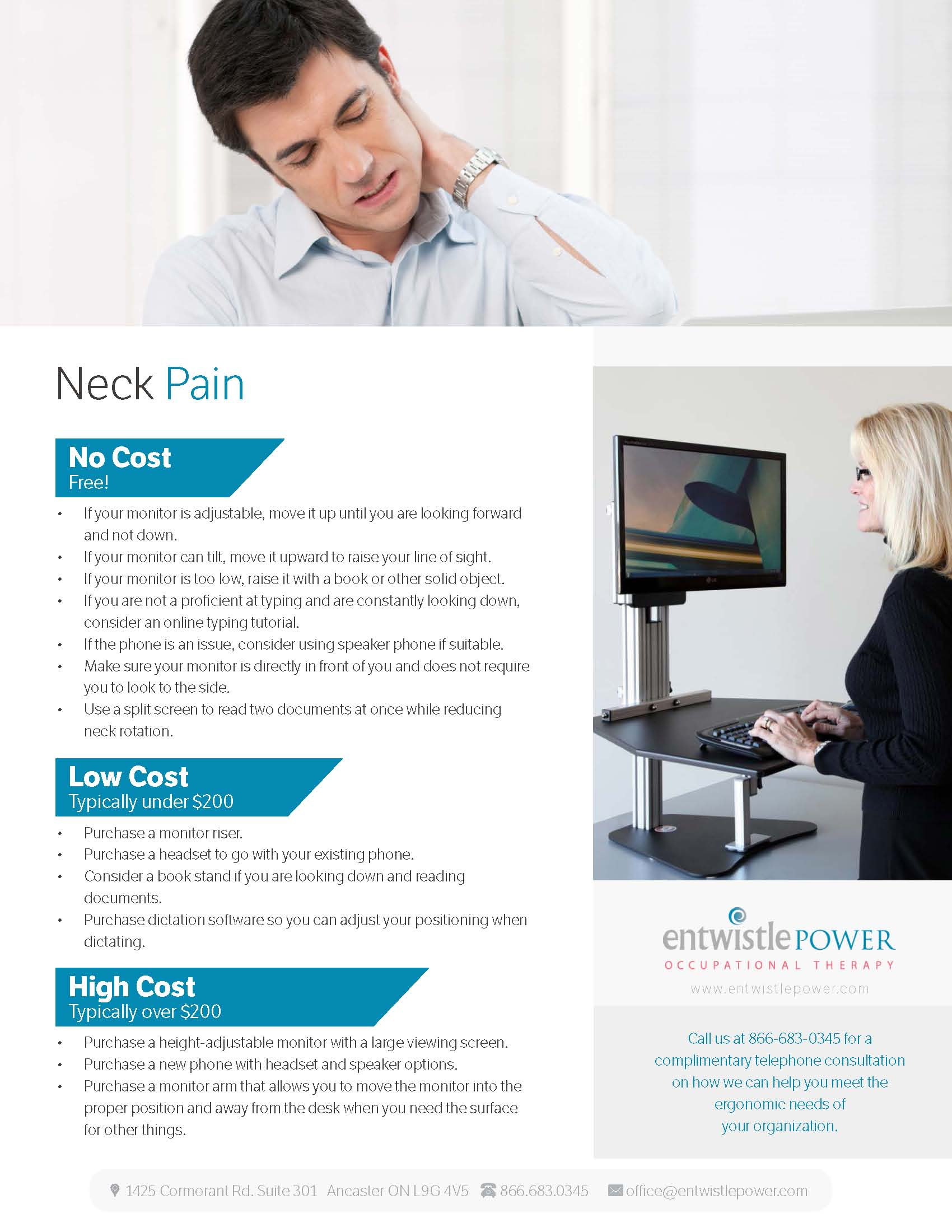 NECK PAIN -- ergo doc one pager