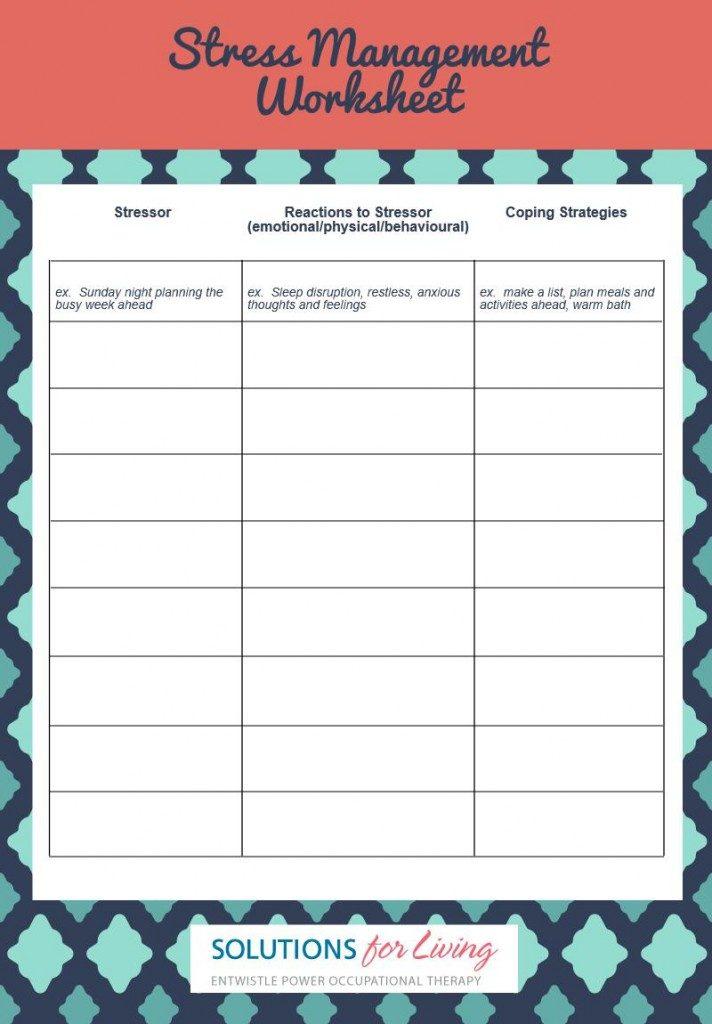 Printable Resources – Stress Management Worksheet