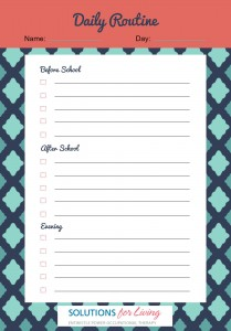 Help kids stick to routine with this handy checklist.
