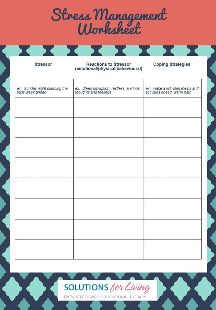 stress-management-worksheet