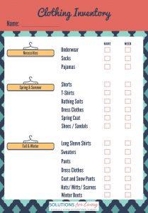 Seasonal Clothing Inventory